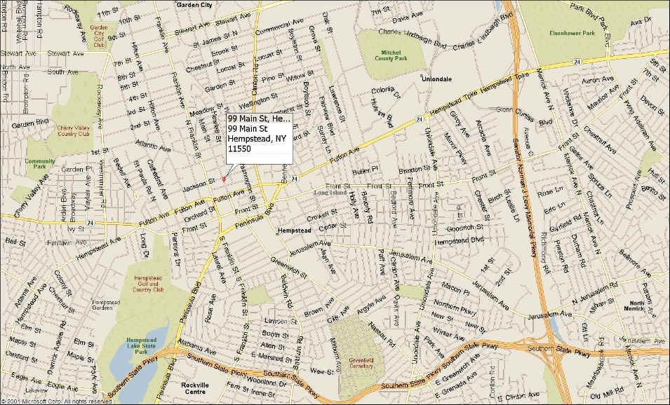 Map of Hempstead Office